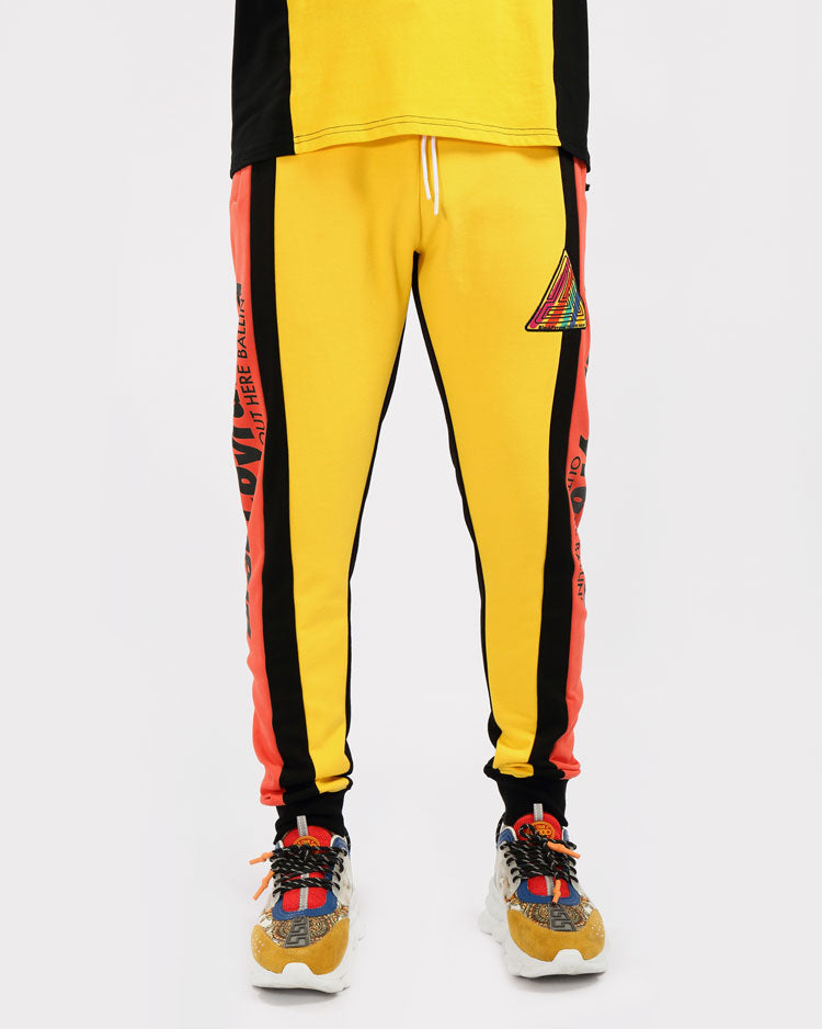 PAINT STREAKS OHB JOGGERS-COLOR: YELLOW