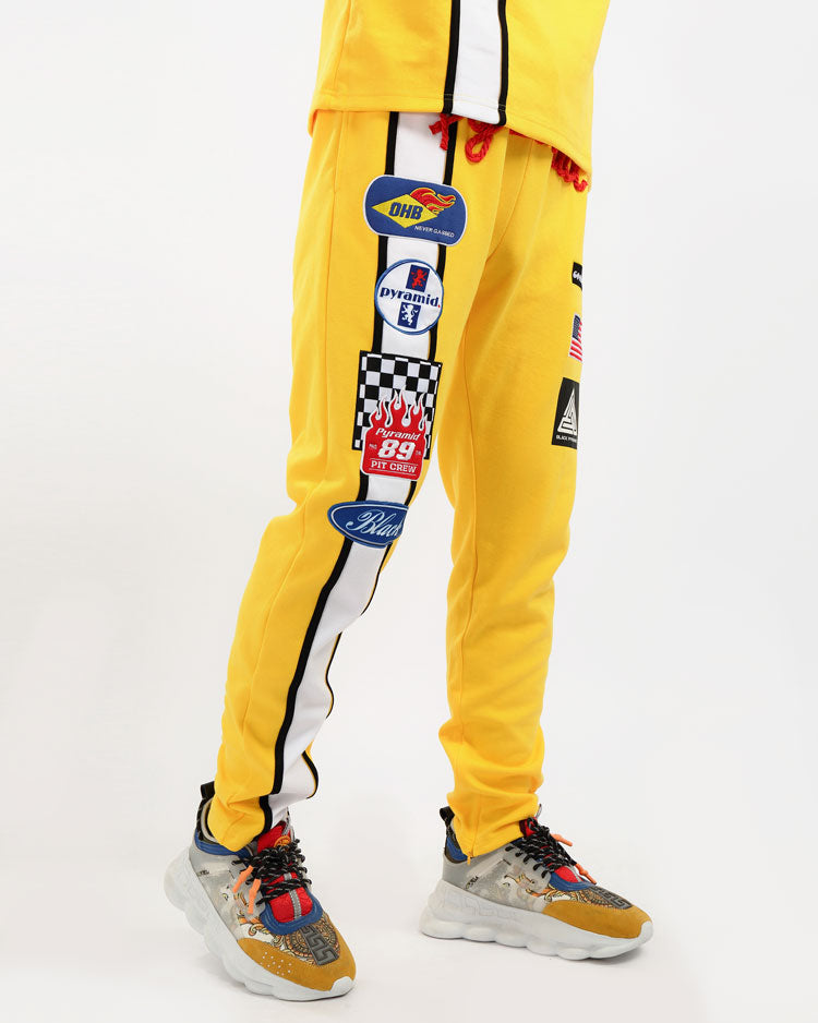 GREASE MONKEY PANTS-COLOR: YELLOW