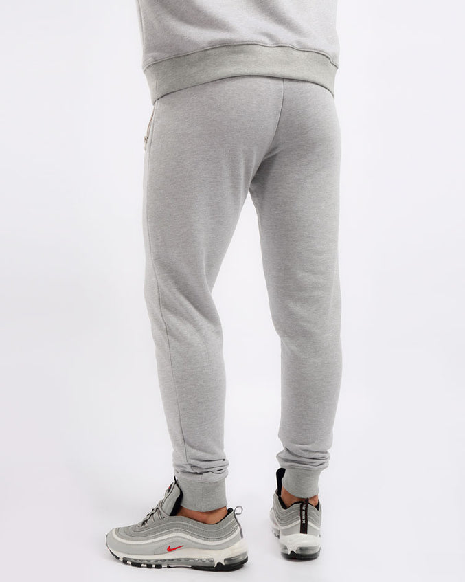 BIG AND TALL COLLAGE TYPE PANTS-COLOR: HEATHER GRAY