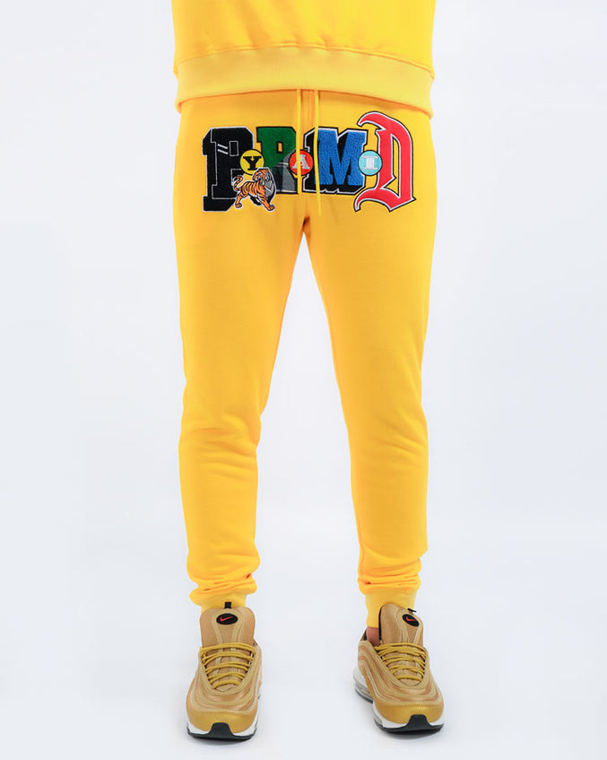 COLLAGE TYPE JPANTS-COLOR: YELLOW