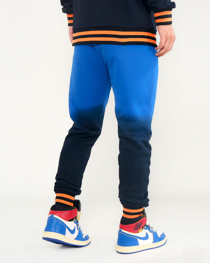 DIE DYE VARSITY PANT-COLOR: BLUE
