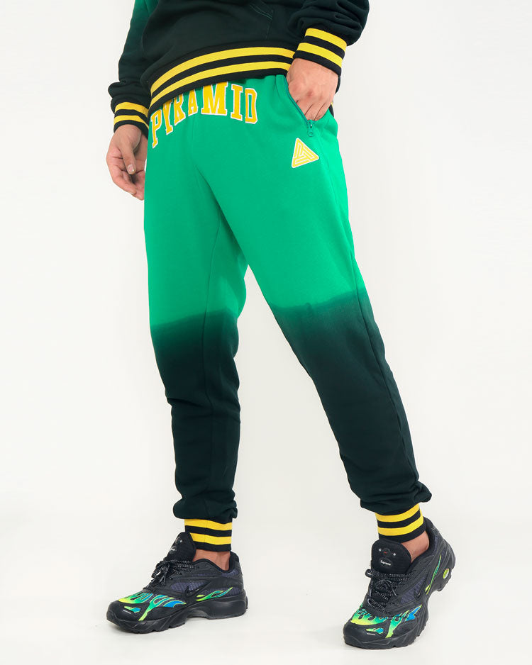 DIE DYE VARSITY PANT-COLOR: GREEN