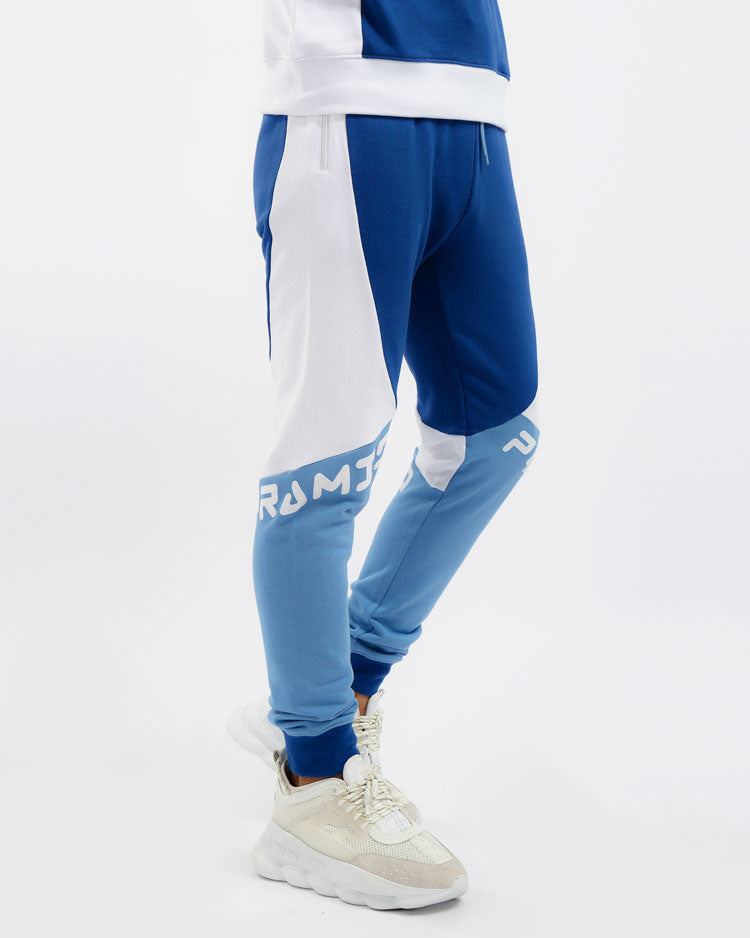 RACER BLOCKED PANT- COLOR: BLUE