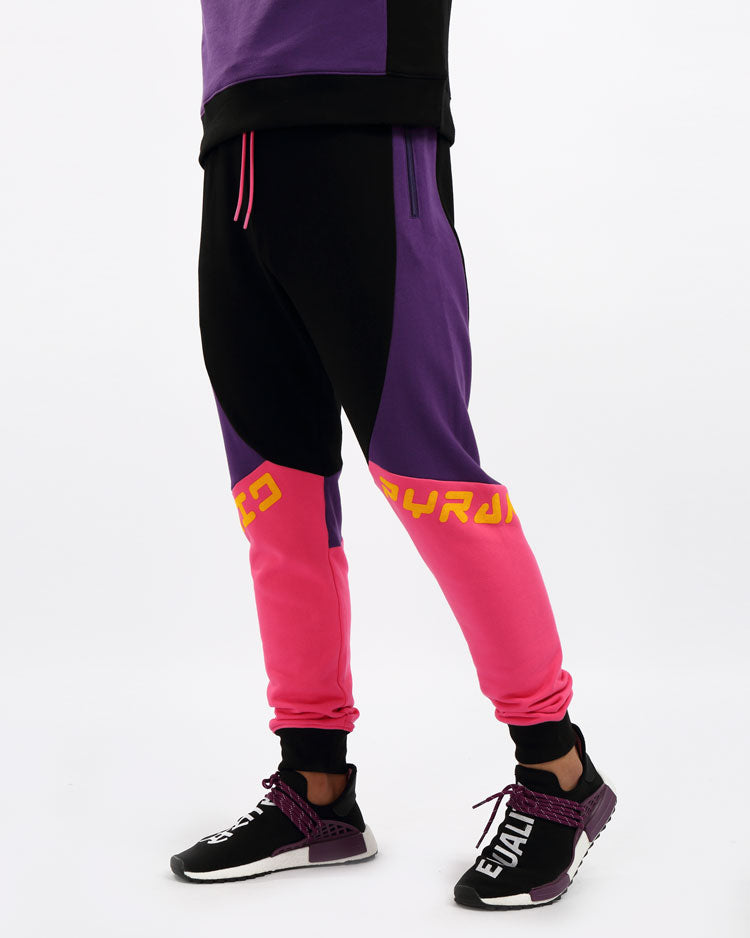 RACER BLOCKED PANT- COLOR:  MULTI COLOR