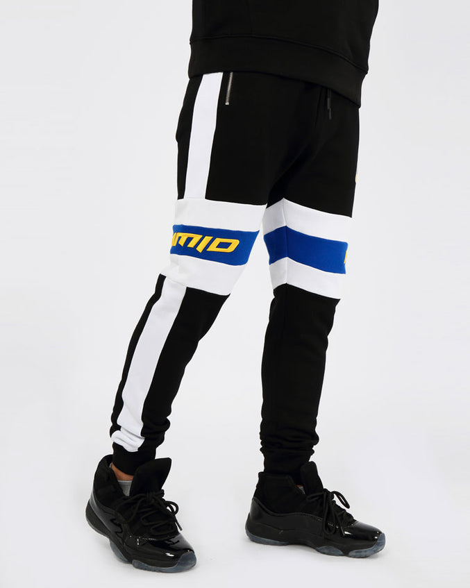 CENTER STRIPE PANT-COLOR: BLACK