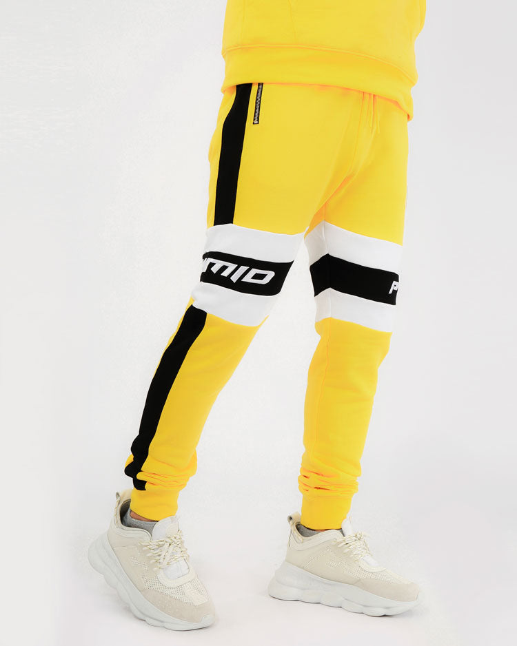CENTER STRIPE PANT-COLOR: YELLOW
