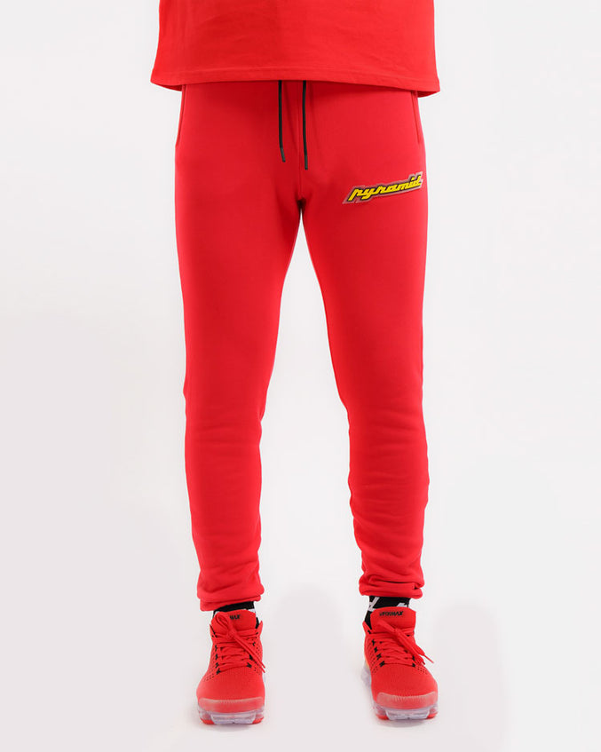 CORE 3D RUBBER PATCH PANT-COLOR: RED