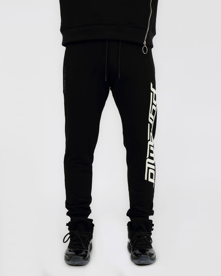 SLANT ZIPPER PANTS