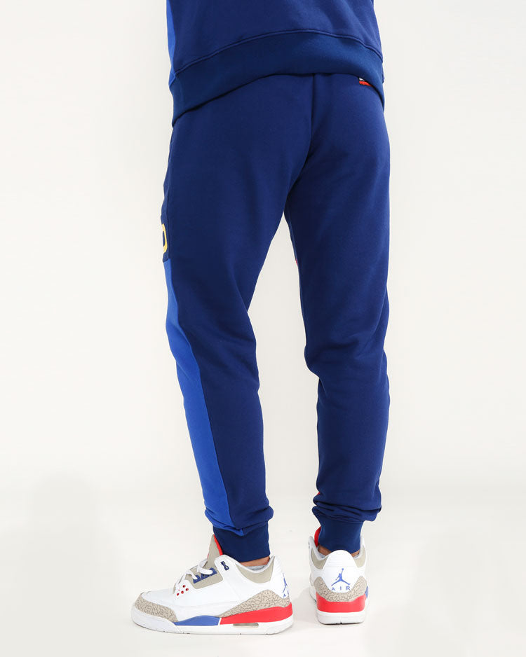 BLK PYRMD BLOCK PANTS-COLOR: BLUE
