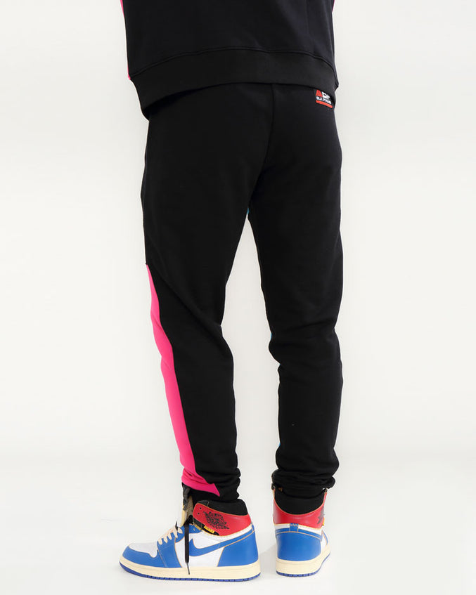 BLK PYRMD BLOCK PANTS-COLOR: PINK