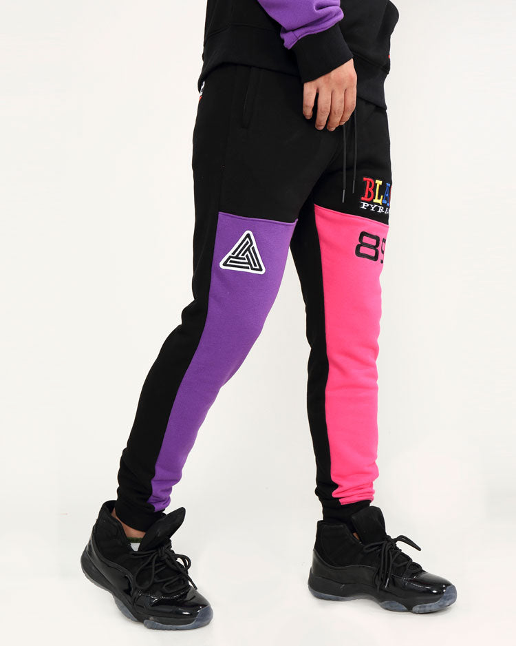 90S KINDA SWERVE JOGGERS-COLOR: BLACK