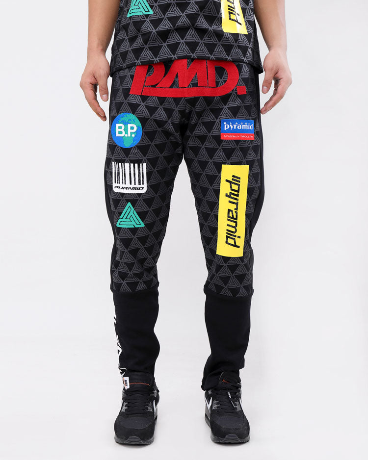 GRAND PRIX PANTS-COLOR: BLACK