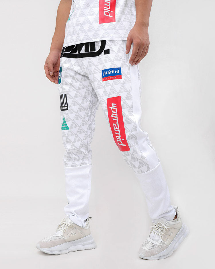 GRAND PRIX PANTS-COLOR: WHITE