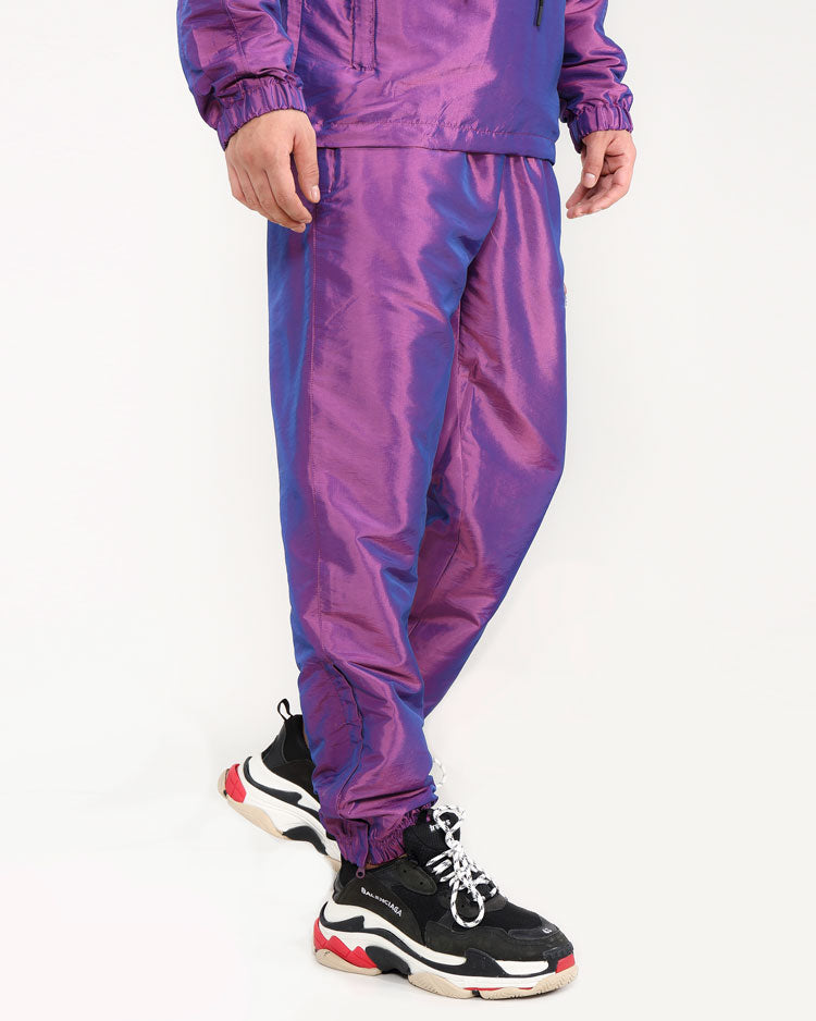 DIGITAL AUDIO IRDESCENT PANTS-COLOR: PURPLE
