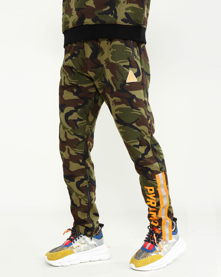 HIGH VIS STRIPE CAMO PANTS-COLOR: CAMO
