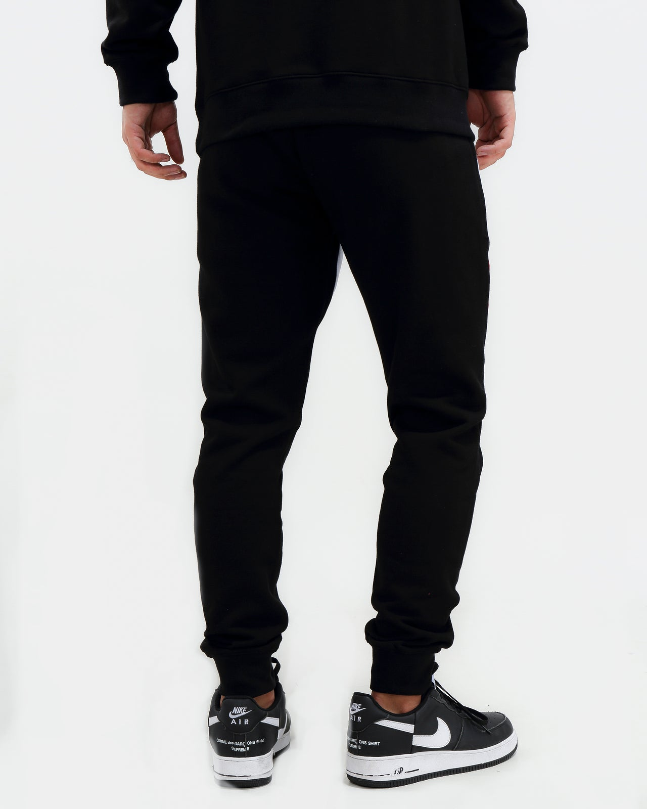 CHENILLE HEX LOGO PANTS-COLOR: BLACK