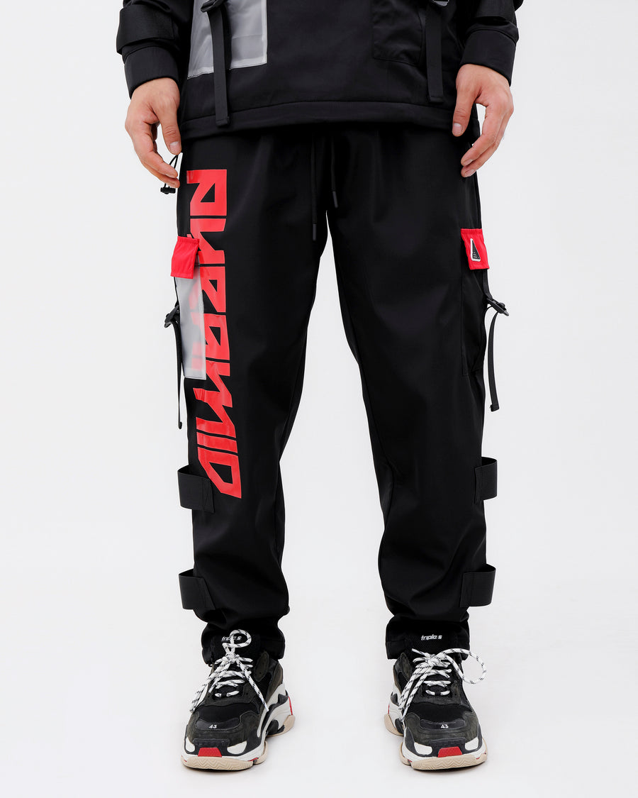 CLEAR POCKET STRAPPED PANTS