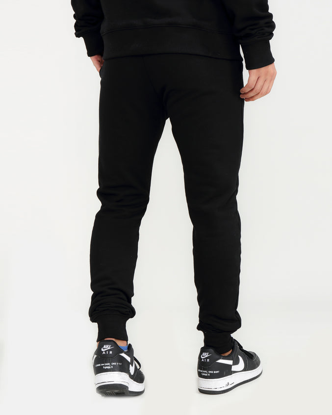 COLORS DRIP LOGO PANTS-COLOR: BLACK