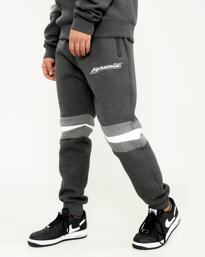 ARTICULATED KNEE LOGO PANT-COLOR: BLACK