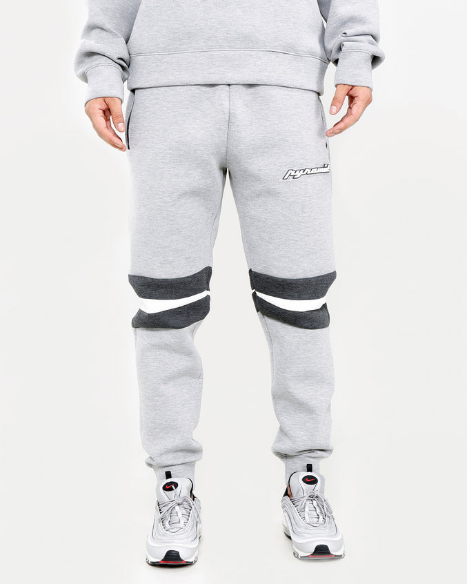ARTICULATED KNEE LOGO PANT-COLOR: HEATHER GRAY