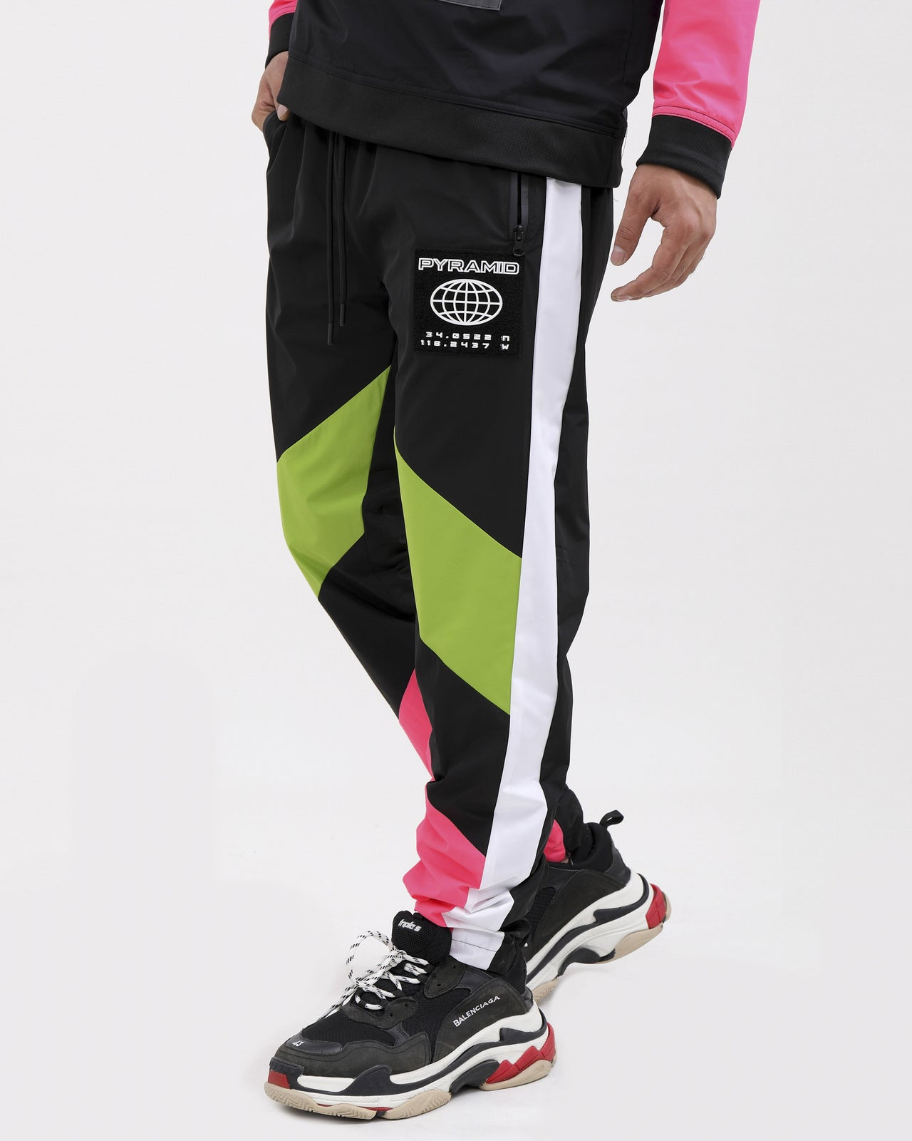 WORLDWIDE PULLOVER PANTS-COLOR: GREEN