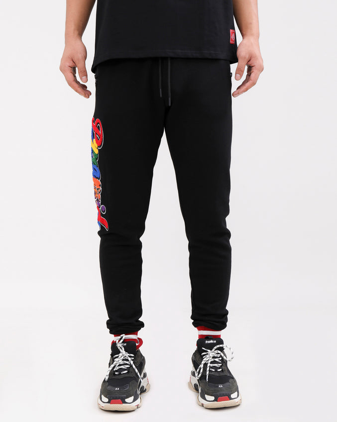 PYRAMID HUNGRY PANTS-COLOR: BLACK
