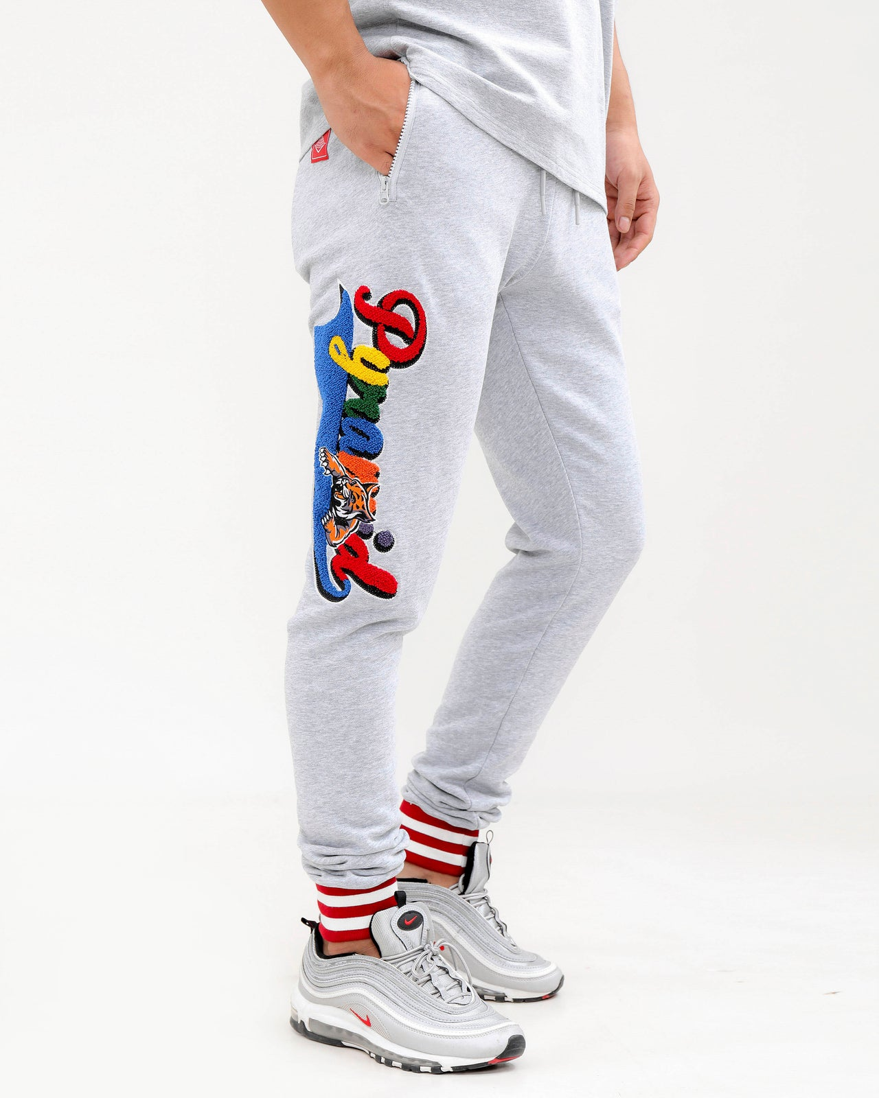 PYRAMID HUNGRY PANTS-COLOR: HEATHER GRAY