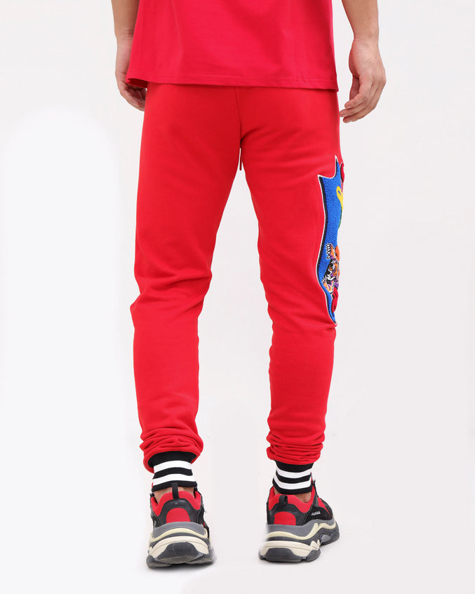 PYRAMID HUNGRY PANTS-COLOR: RED
