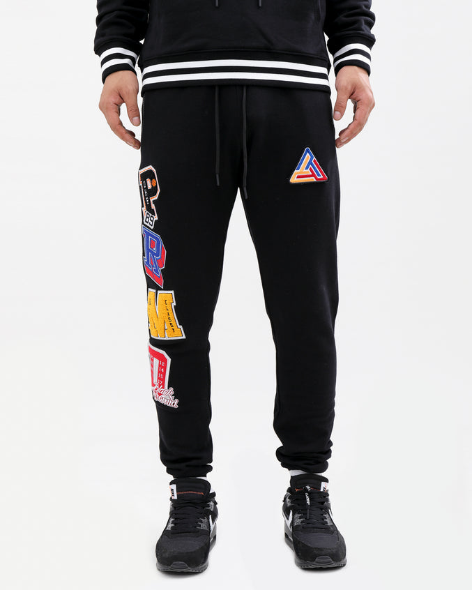 Varsity Collection Pants-color: black