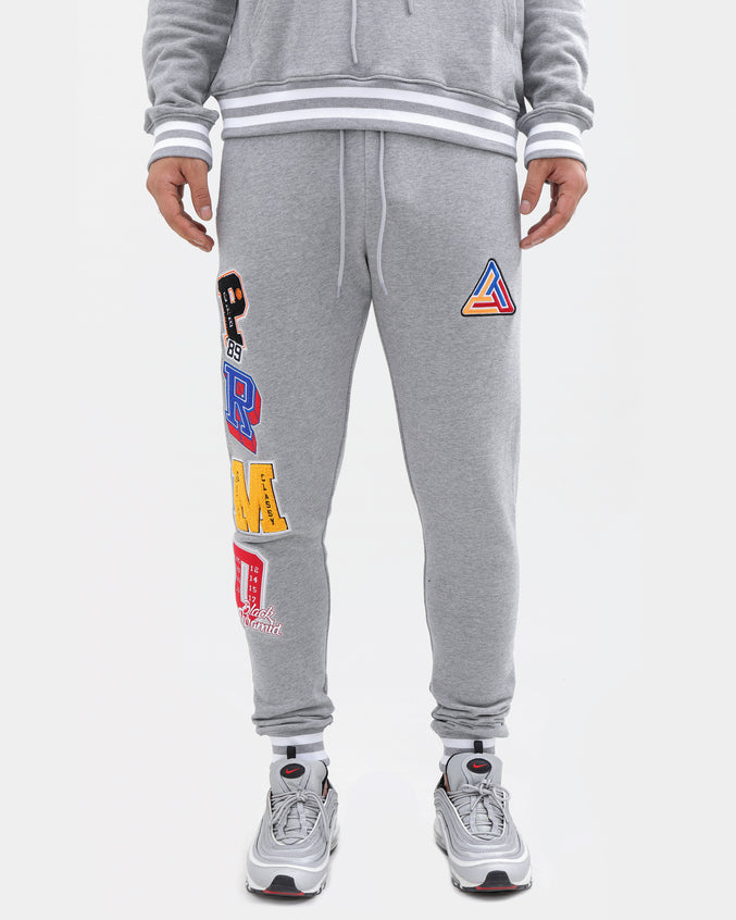 Varsity Collection Pants-color: heather gray