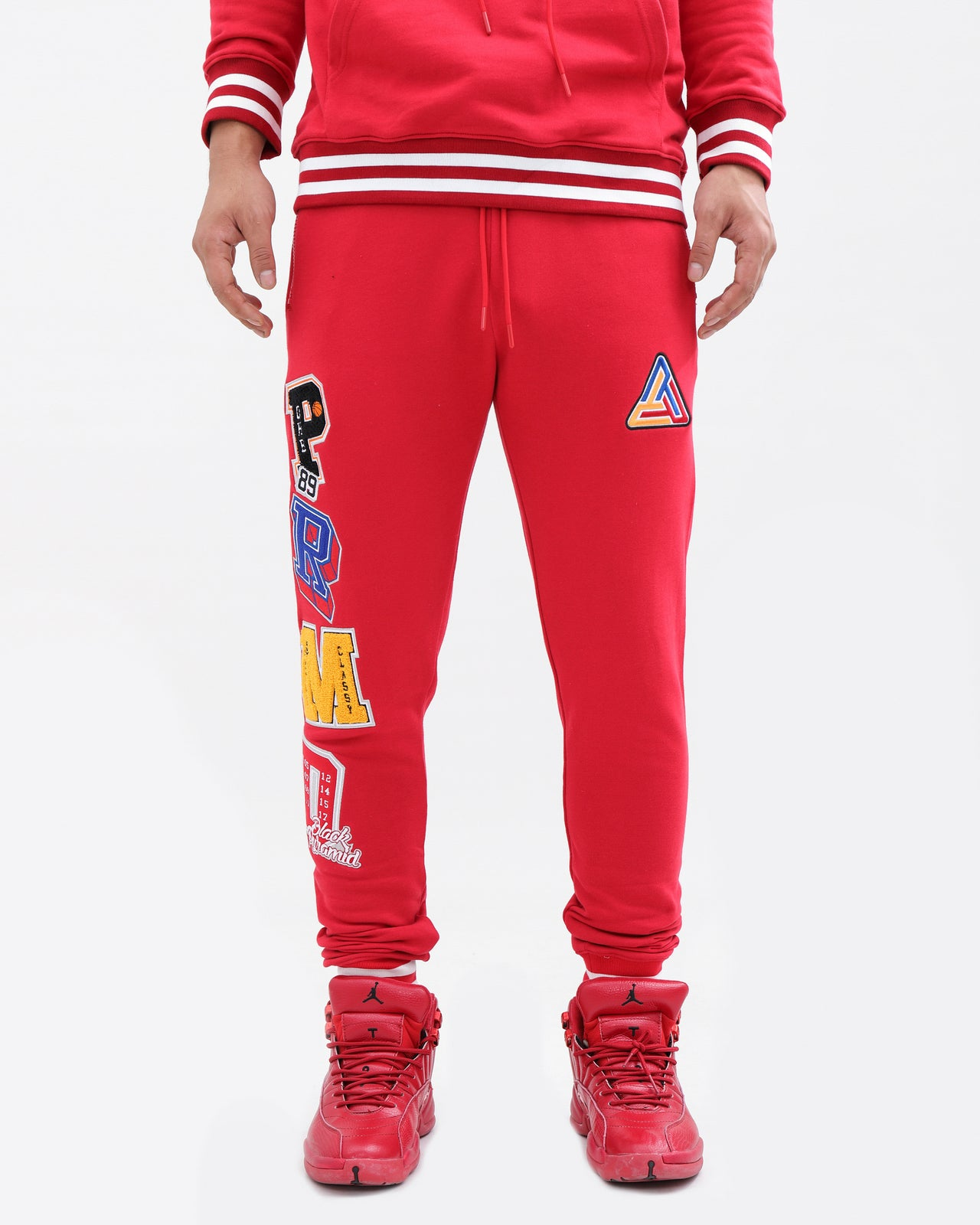 Varsity Collection Pants-color: red