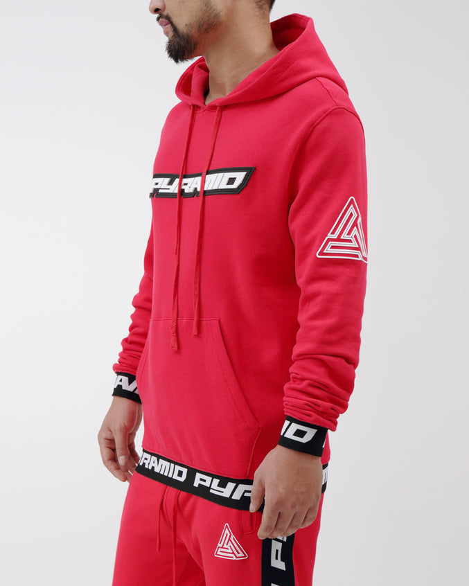 Pyramid LS Hoodie - Color: Red