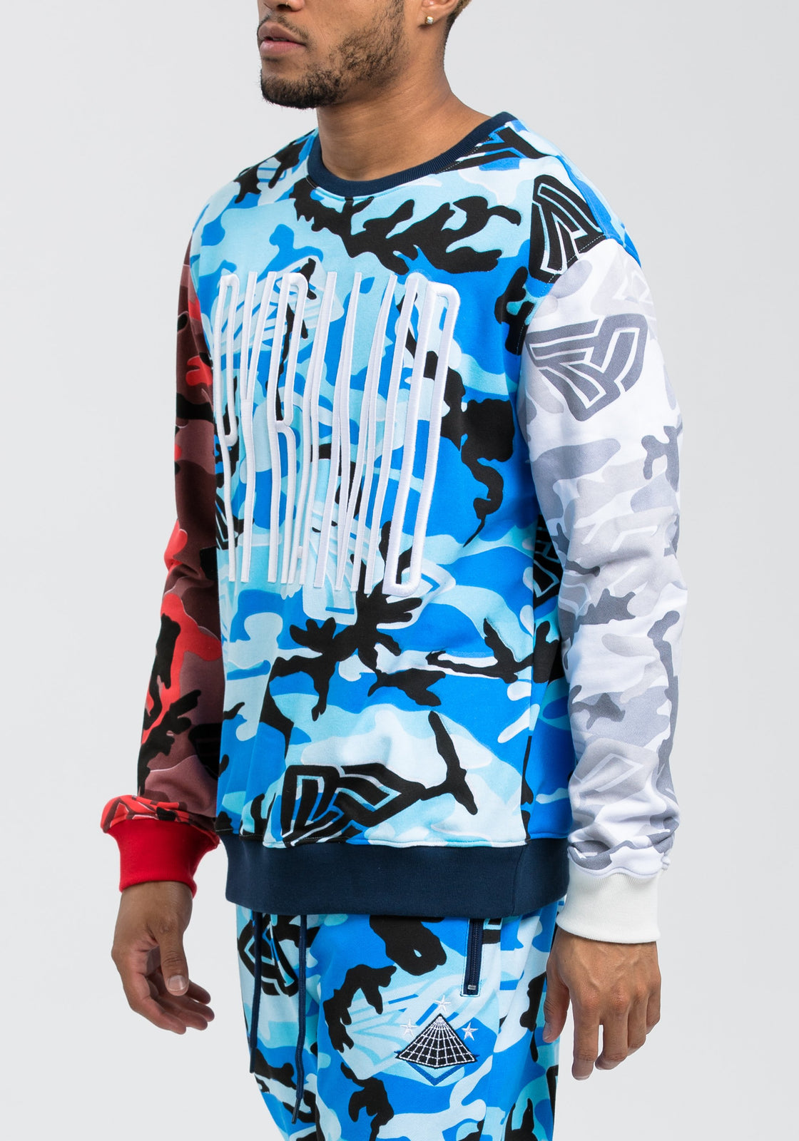 Camo Pyramid Sweatshirt - Color: Multi Color | Multi