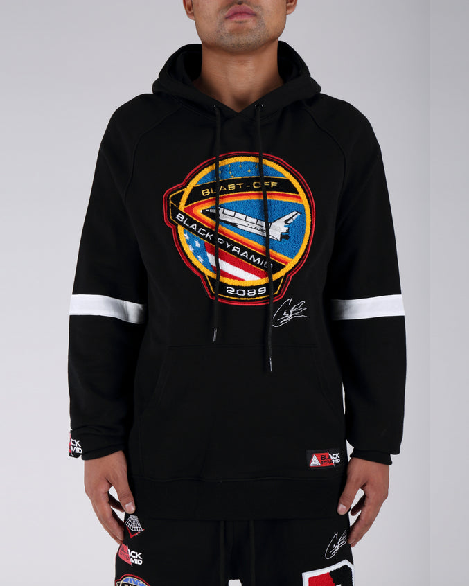 Blast Off Hoodie - Color: Black