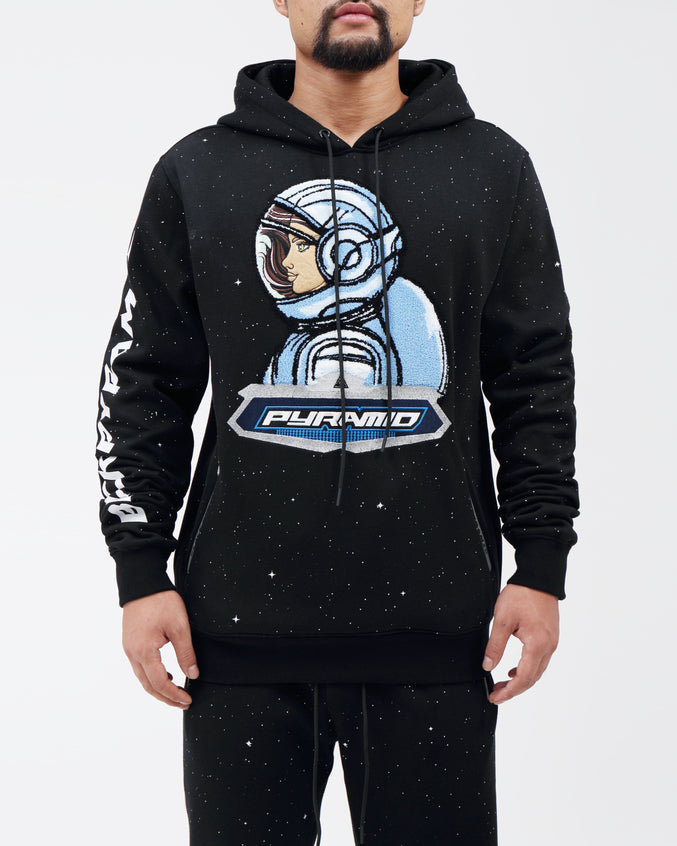 ASTROGIRL GALAXY HOODY - Color: BLACK