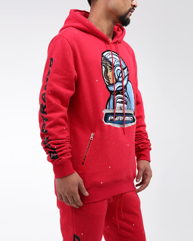 ASTROGIRL GALAXY HOODY - Color: RED