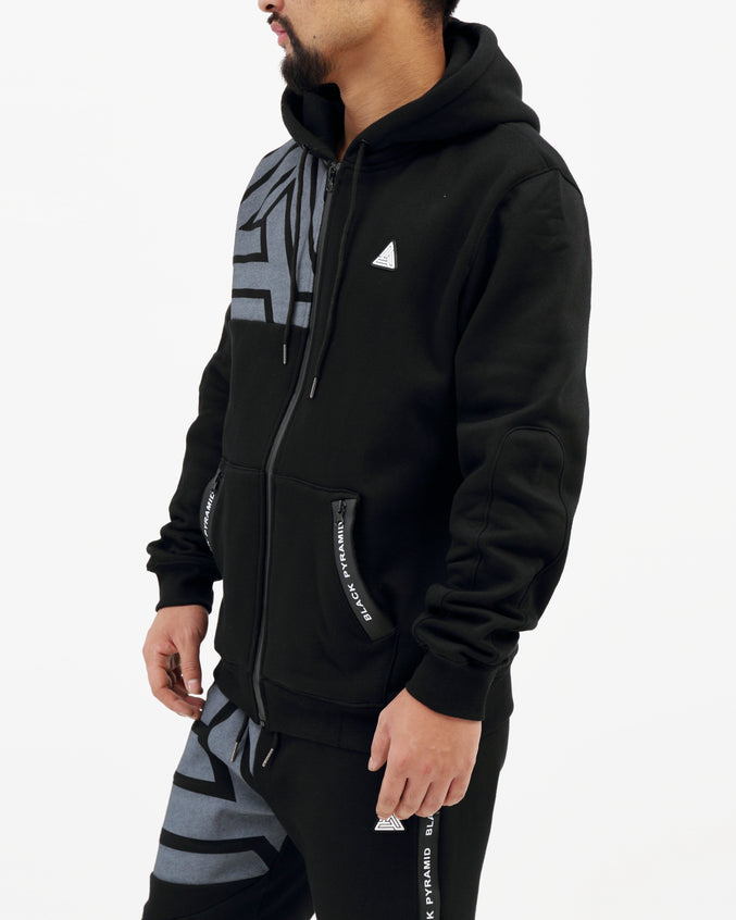 BP Zipper Tech Hoody - Color: BLACK