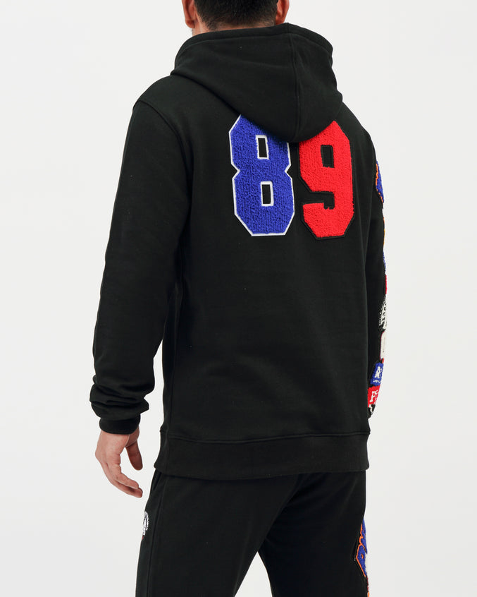 College Mash Pullover Hoody - Color: Black