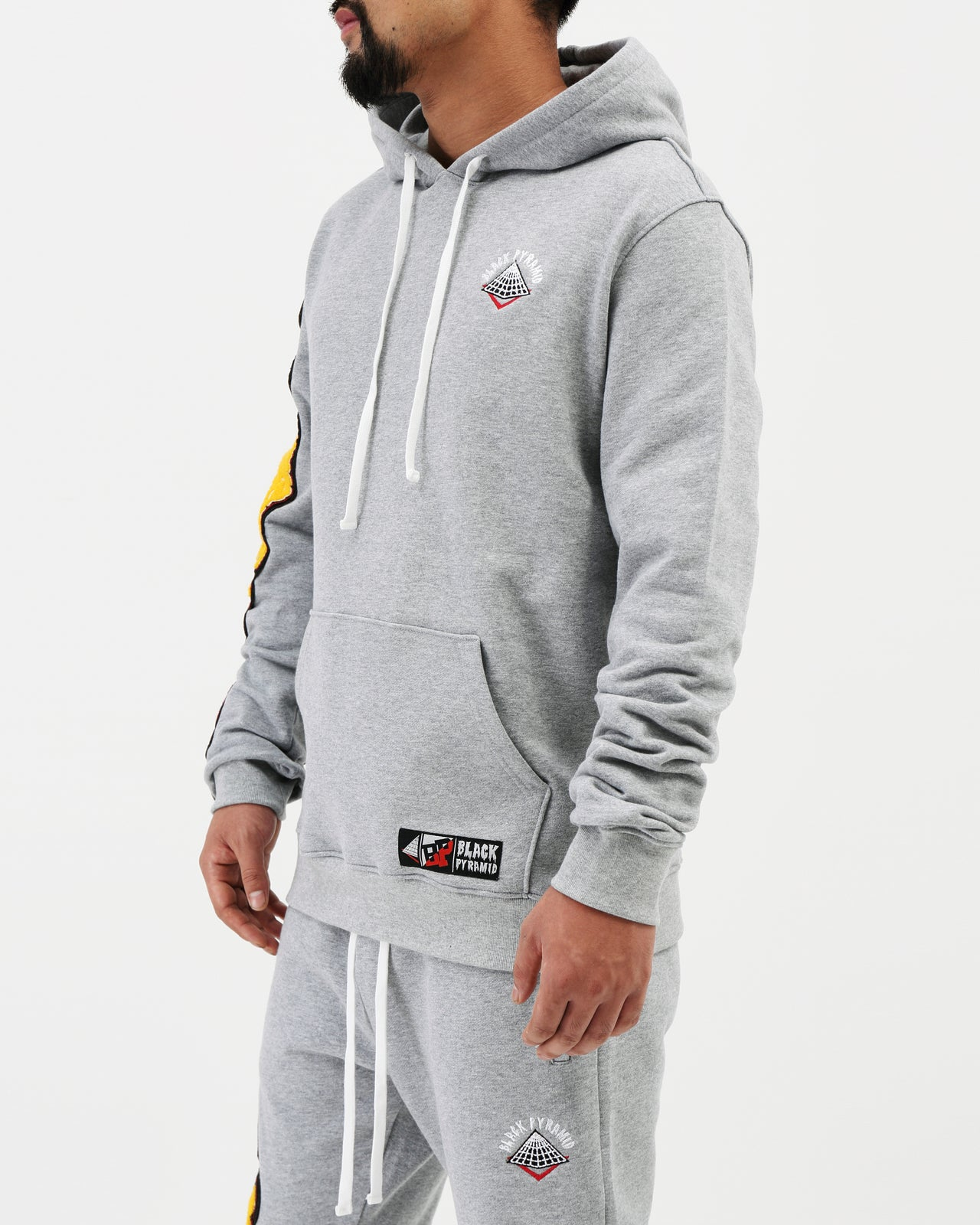 College Mash Pullover Hoody - Color: Heather Gray