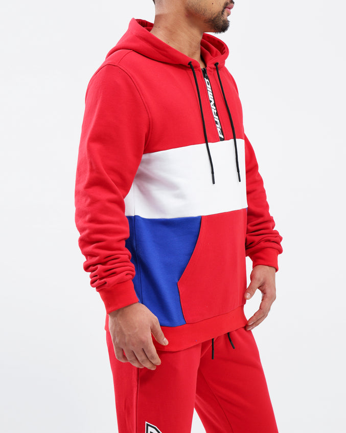 BP Speed Logo 1/2 ZIp Hoodie - Color: Red
