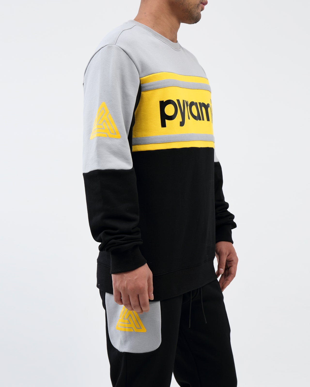 Pyramid Jersey Crewneck - Color: Black