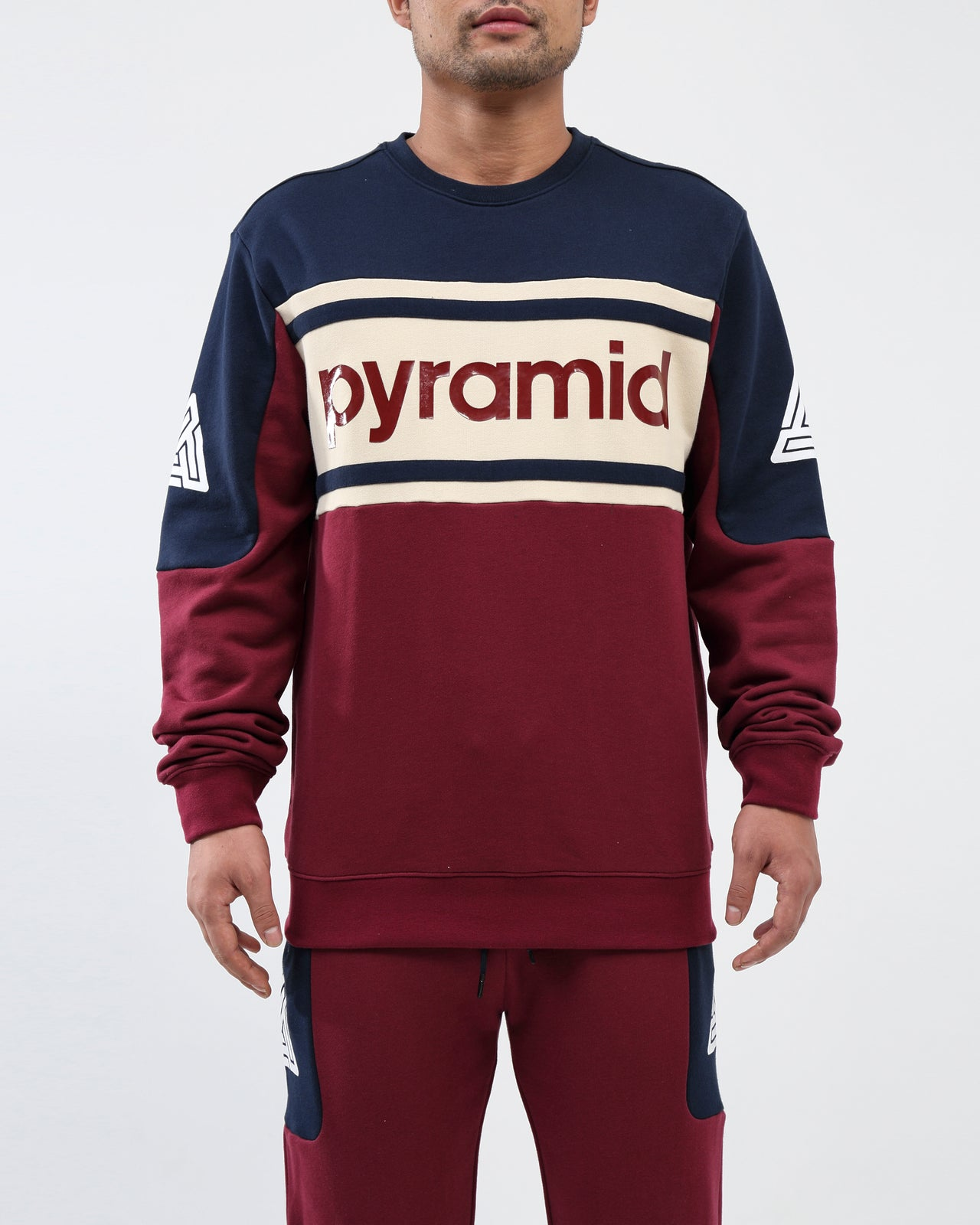 Pyramid Jersey Crewneck - Color: Burgundy