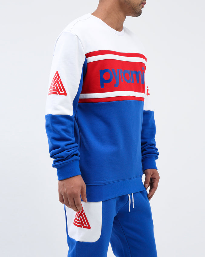 Pyramid Jersey Crewneck - Color: Royal Blue