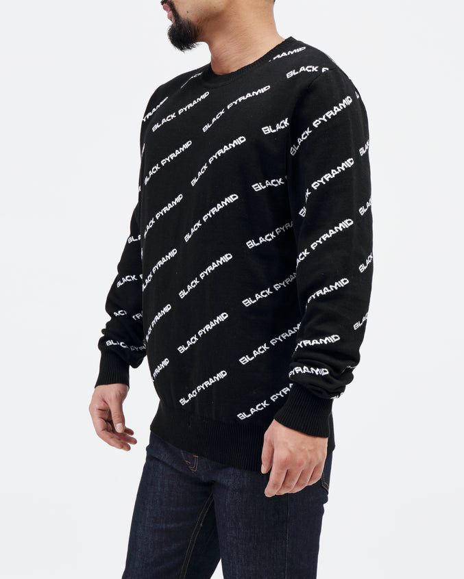 BP Monogram Kint Sweater - Color: BLACK