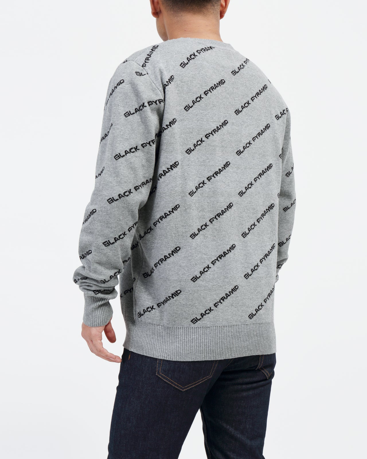 BP Monogram Kint Sweater - Color: GRAY