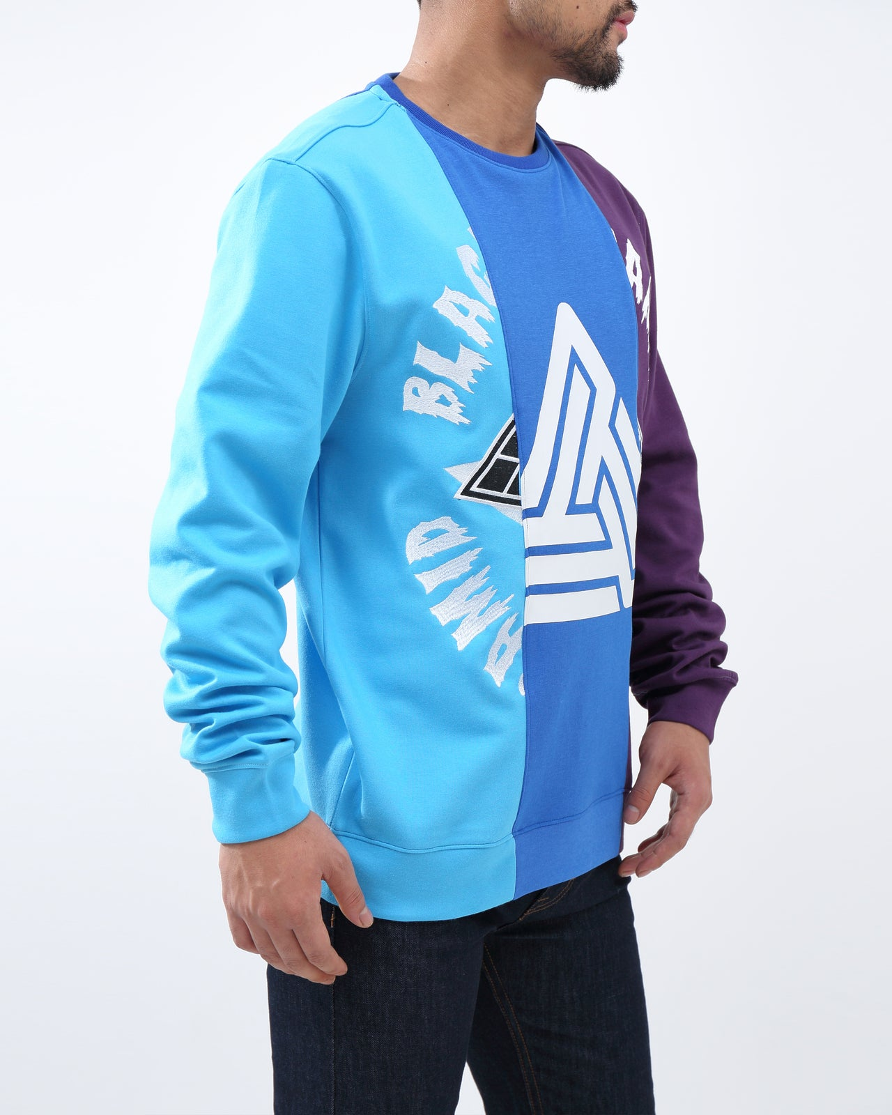 SPLIT 3  WAYS LOGO CREW - Color: LT Blue