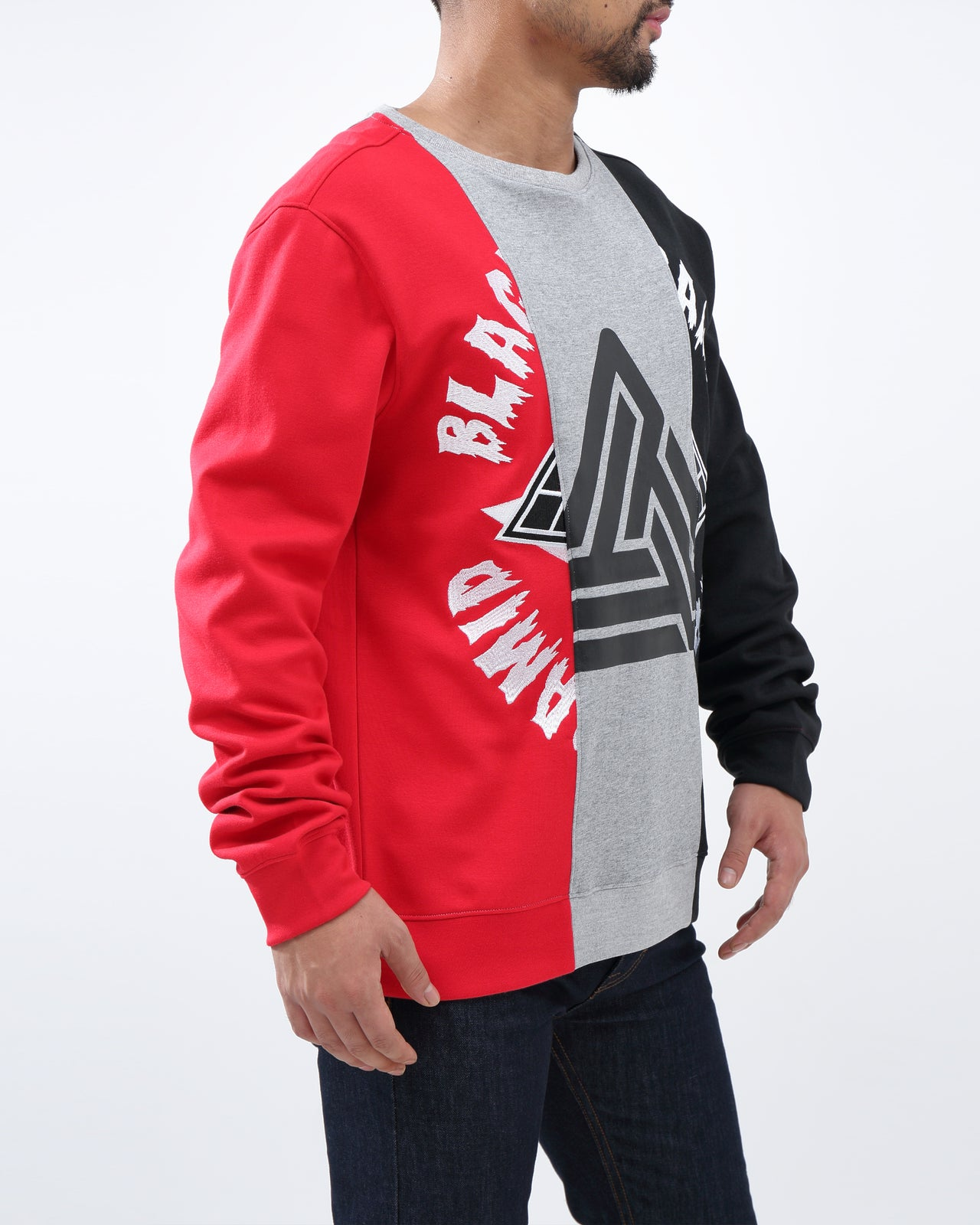 SPLIT 3  WAYS LOGO CREW - Color: Red