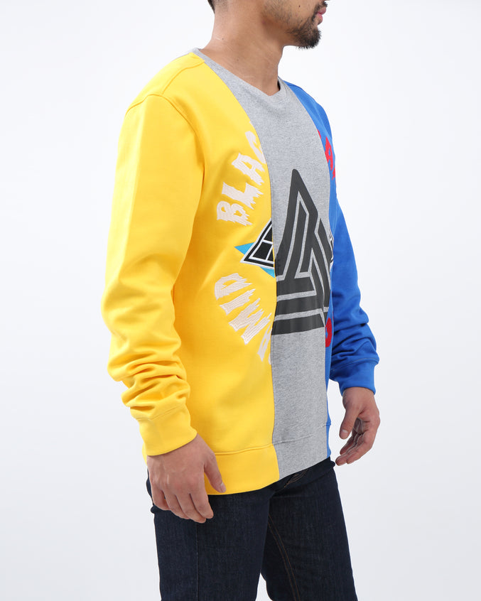 SPLIT 3  WAYS LOGO CREW - Color: Yellow