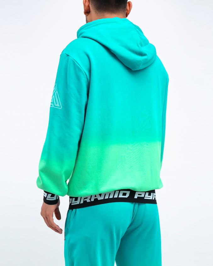 DIP DYE PASTEL HOODY - Color: GREEN