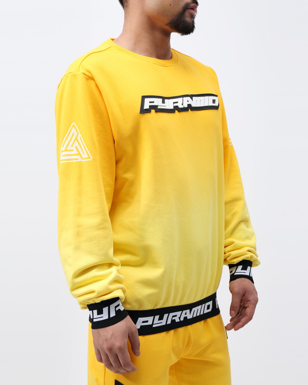 DIP DYE PASTEL CREW - Color: YELLOW